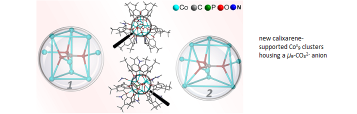 new calixarene-supported CoII9 clusters housing a μ9-CO32- anion