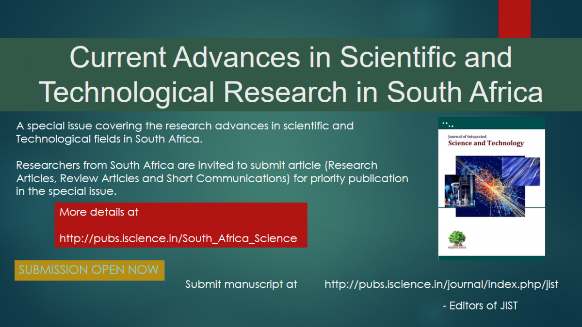 Current research advances in Science and Technology of South Africa
