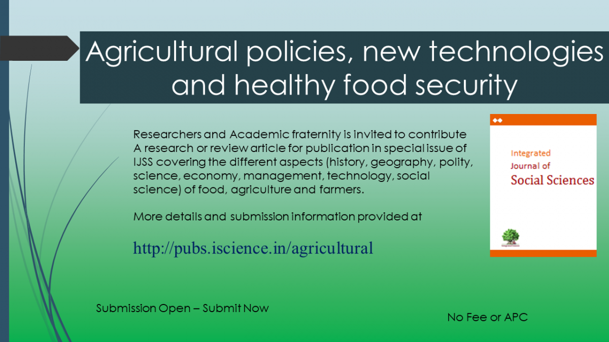 Agricultural policies, new technologies and healthy food security